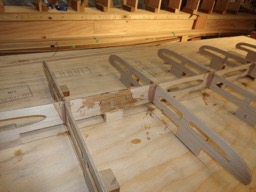 The frame pieces are filleted with thickened epoxy.