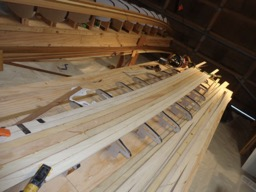 2/24/16 - Several strips of paulownia are temporarity glued in place.