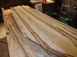 3/5/16 - The deck is ready for sanding and shaping.