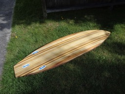 4/19/16 - The board is given a washdown after being sanded.