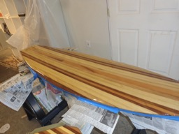 First coat is applied.