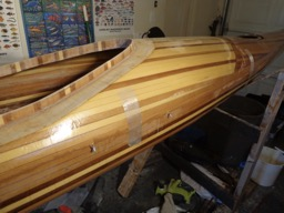 4/13/16 - The deck and hull are epoxied together.