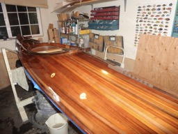 11/30/16 - The second to last coast of Awlwood varnish is applied.