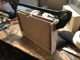 11/30/17 - The daggerboard trunk is epoxied together.
