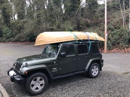 It just fits on the Jeep.