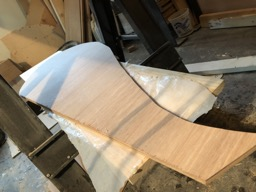 2/1/18 - The rudder is cut from marine plywood.