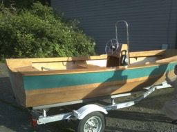 7/15/11 - The boat is finally complete!  The owner will fit it out with a 25 hp engine.