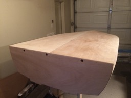 12/12/13 The hull is sanded smooth.