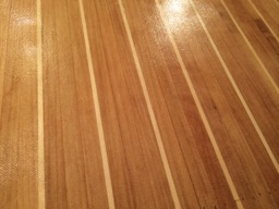 Close up of the deck pattern.