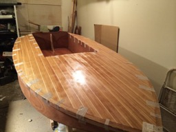 The deck is glued on.