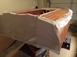 Fiberglass to protect the rails and edge of the deck.