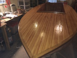 The deck gets two fill coats of epoxy.
