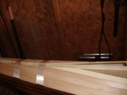 11/7/07 - Another strip of Alaskan Yellow Cedar is added for some pattern variation.