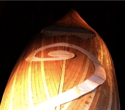 11/14/07 - The koru shape is transferred from paper to the deck.