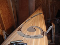11/16/07 - The koru is cut into the aft part of the deck.