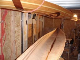 11/23/07 - After a major struggle to get the deck off, the inside of the hull is ready to be sanded.