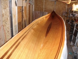 11/26/07 - The inside of the hull is fiberglassed.