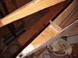 The bow and stern tips are filled with thickened epoxy.