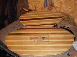 12/4/07 - The bulkheads have been cut to their rough shapes.