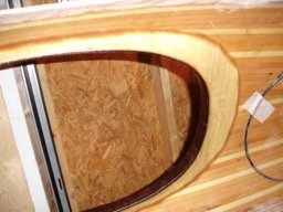 The underside of the deck-coaming joint.