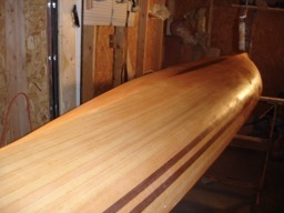 12/29/07 - The hull is washed down with water and then laquer thinner.