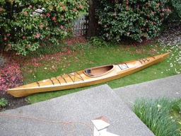 The newly refinished boat.