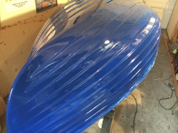 First coat of Interlux Sapphire Blue.