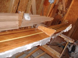 8/11/08 - The starboard ama deck is fiberglassed.