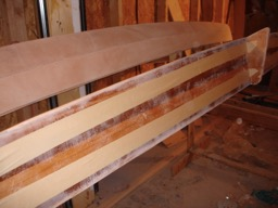 8/15/08 - The amas are sanded and ready for fiberglass.