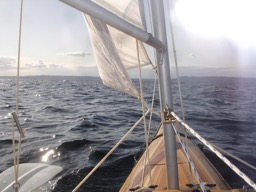 10/25/08 - A view from the cockpit under sail.